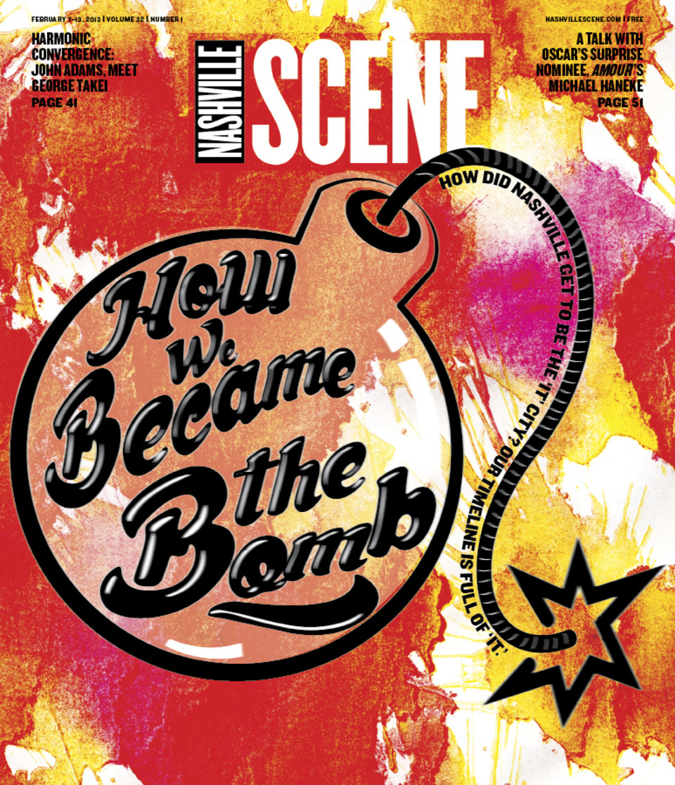 "Picture: Nashville Scene - Timeline of Nashville's rise to ""it"" city - Feb 7th 2013 Edition"
