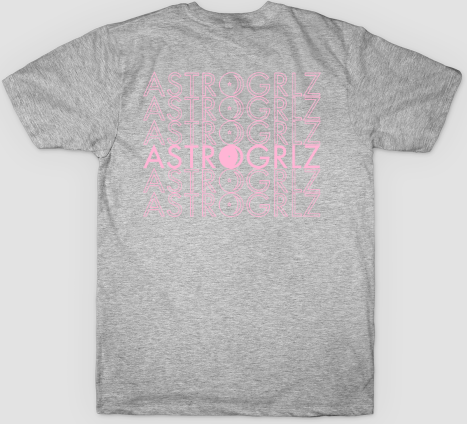 Pink Astro Logo Tee Back