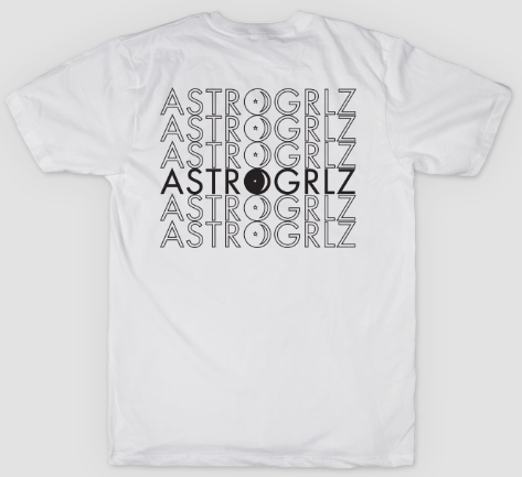 Black Astro Logo Tee Back