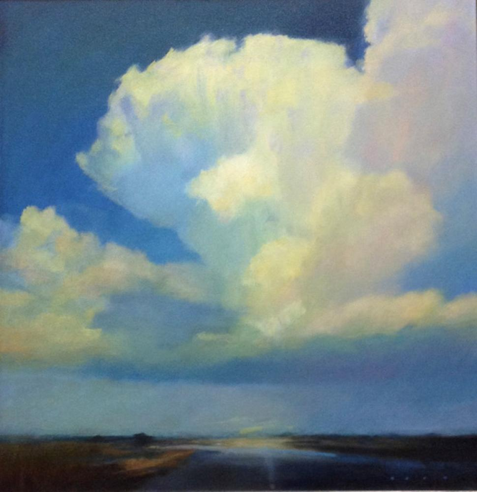 STEPHEN BACH, Blue Majesty  Oil on Canvas, 24in x 24in