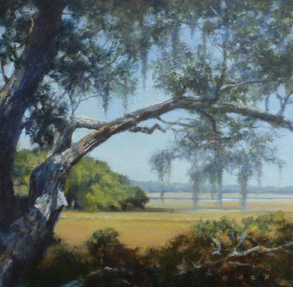 STEPHEN BACH, Low Country (Study)  Oil on Canvas, 12in x 12 in