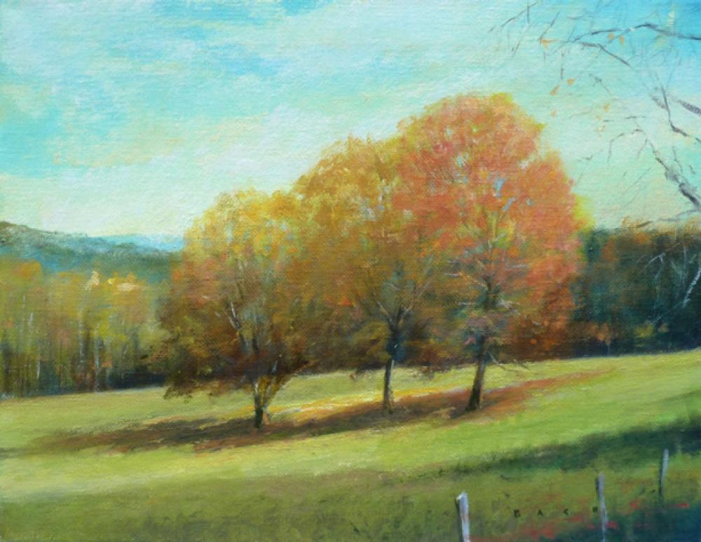 STEPHEN BACH, Treesome  Oil on Canvas, 11in. x14 in.