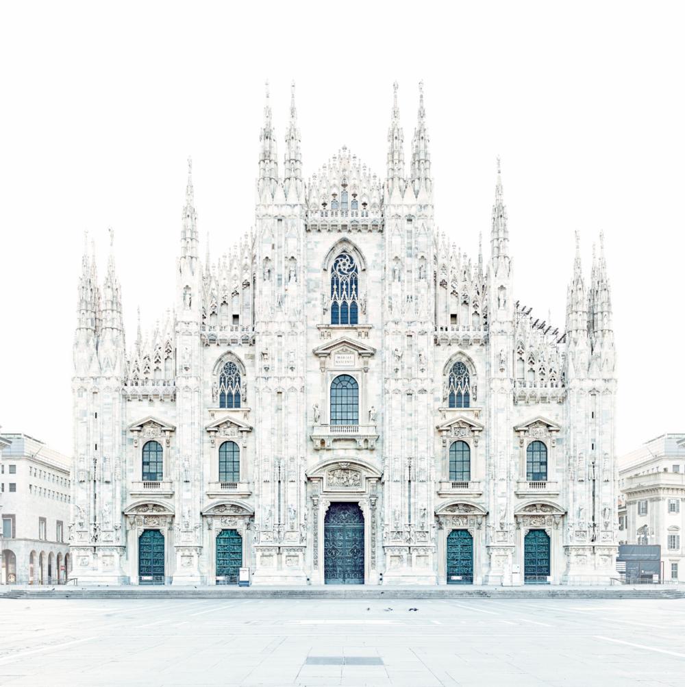 DAVID BURDENY, Piazza del Duomo, Milano, Italy 2016  Archival Pigment Print