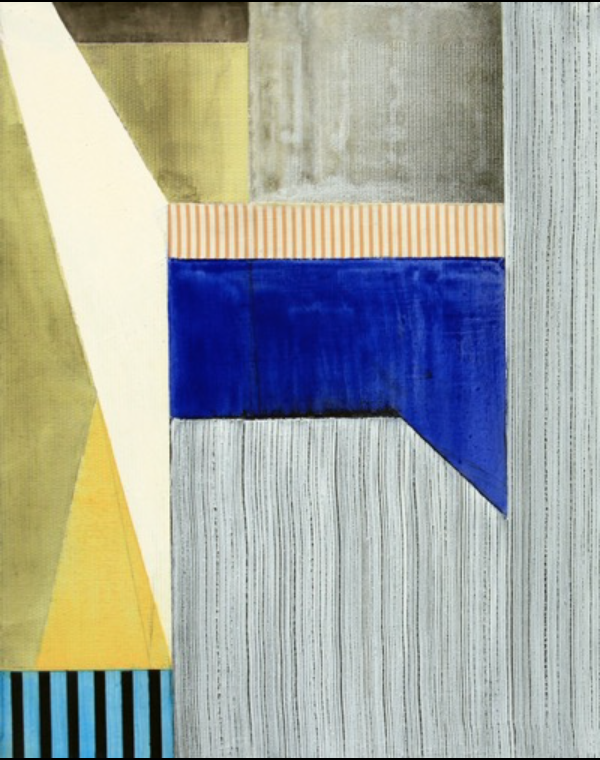 Ned Evans, Covello  Acrylic & Mixed Media on Canvas, 20x16 in.