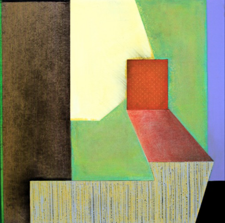Ned Evans, Ecceles  Acrylic & Mixed Media on Canvas, 24x24 in.