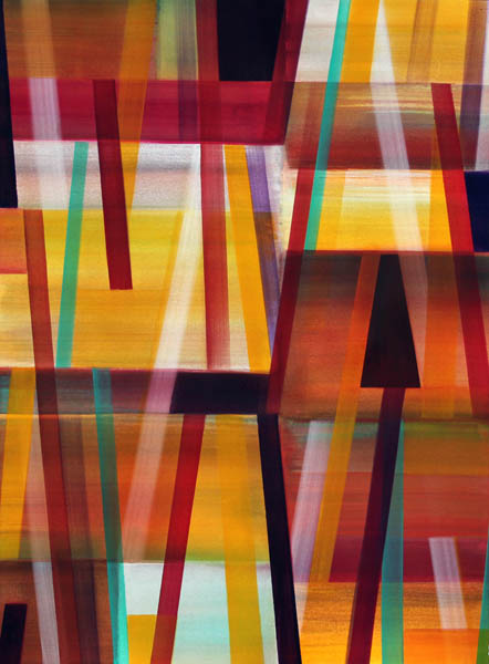 NED EVANS, 0612VH  Acrylic on Paper, 30x22.5 in.