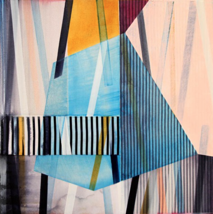 Ned Evans, Chac  Acrylic & Mixed Media on Canvas, 30x30 in.