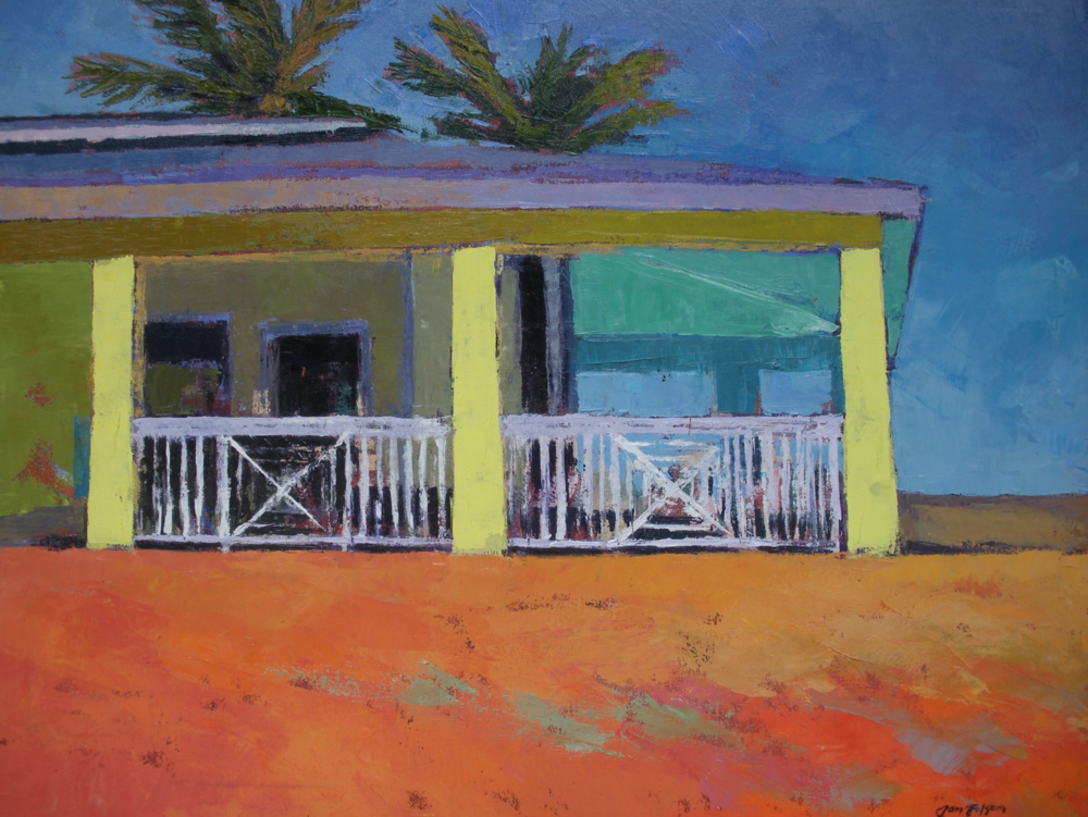 Pam Folsom, Southernmost Beach Club  Oil on Canvas, 24 in. x 30 in.