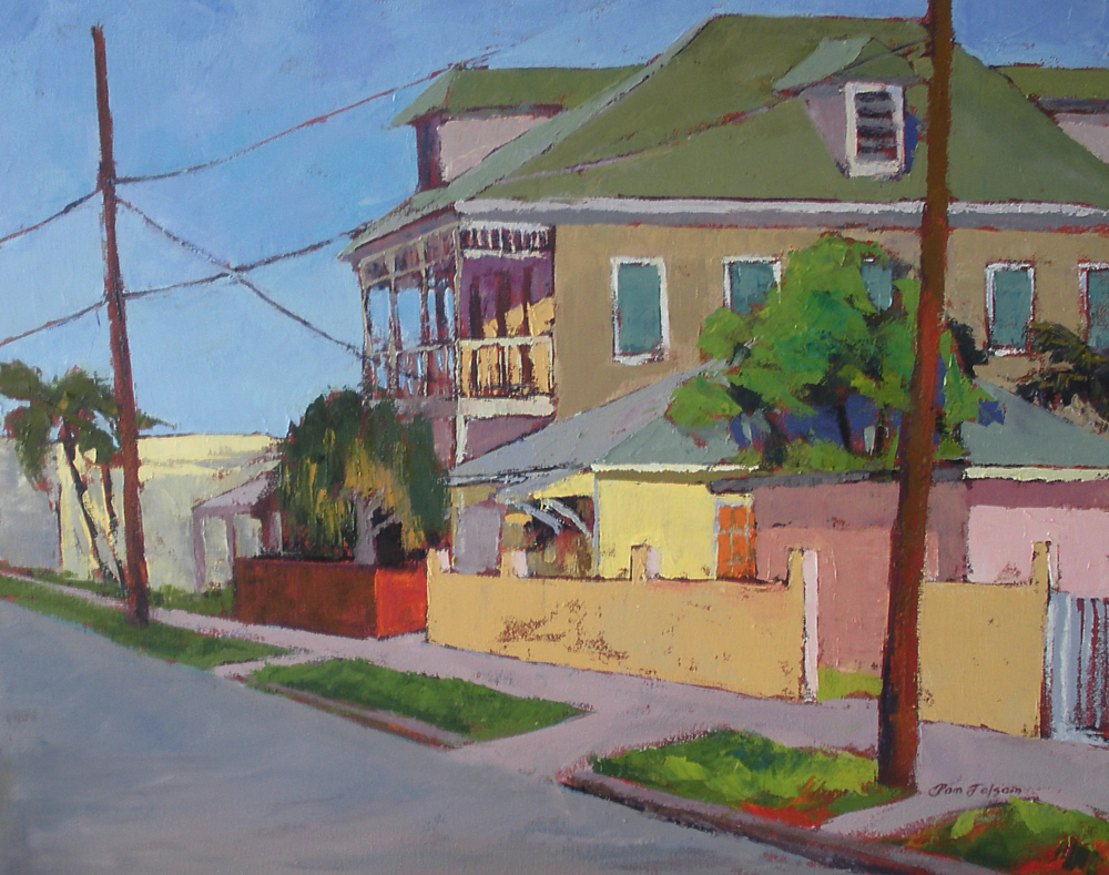 Pam Folsom, Grande Old House  Oil on Canvas, 24x30 in.