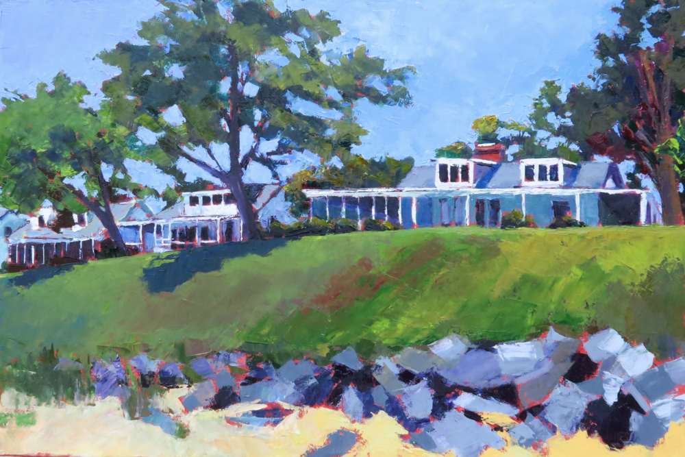 Pam Folsom, The Banks  Oil on Canvas, 20 in. x 30 in.