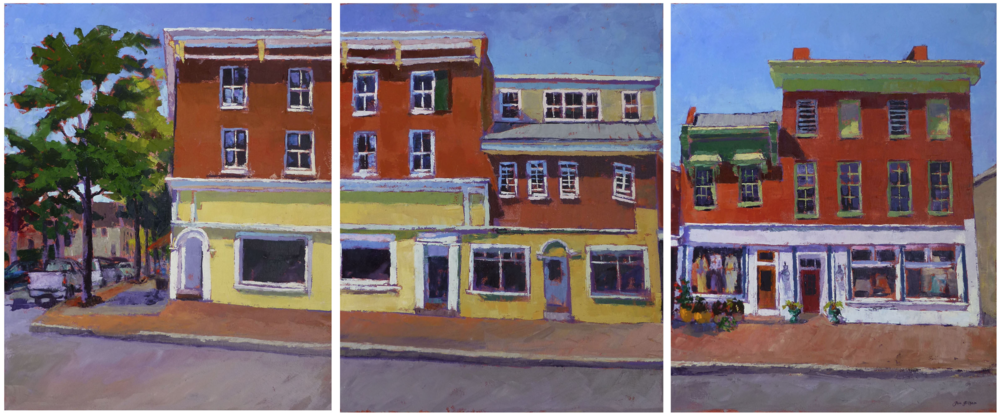 Pam Folsom, Dover & Washington Series  Oil on Canvas, 30 in. x 72 in.