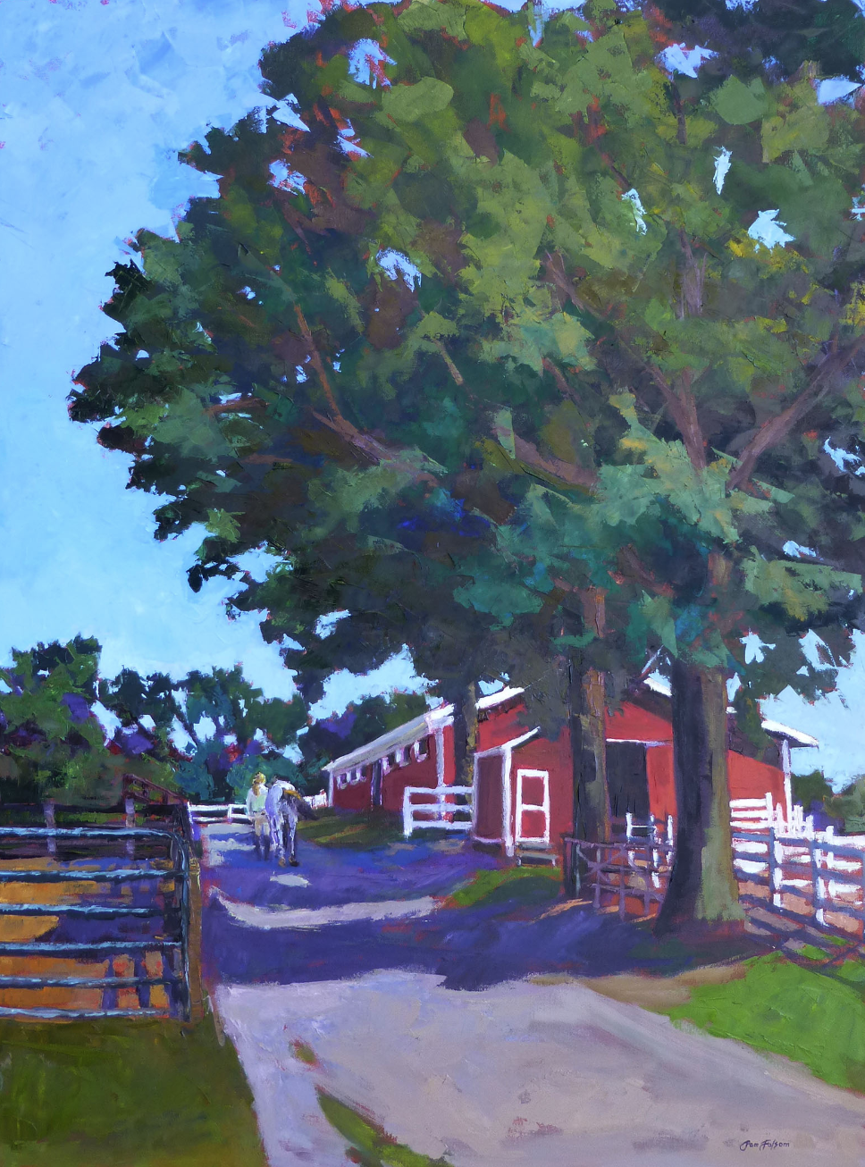 Pam Folsom, Morning Ride  Oil on Canvas, 40 in. x 30 in.