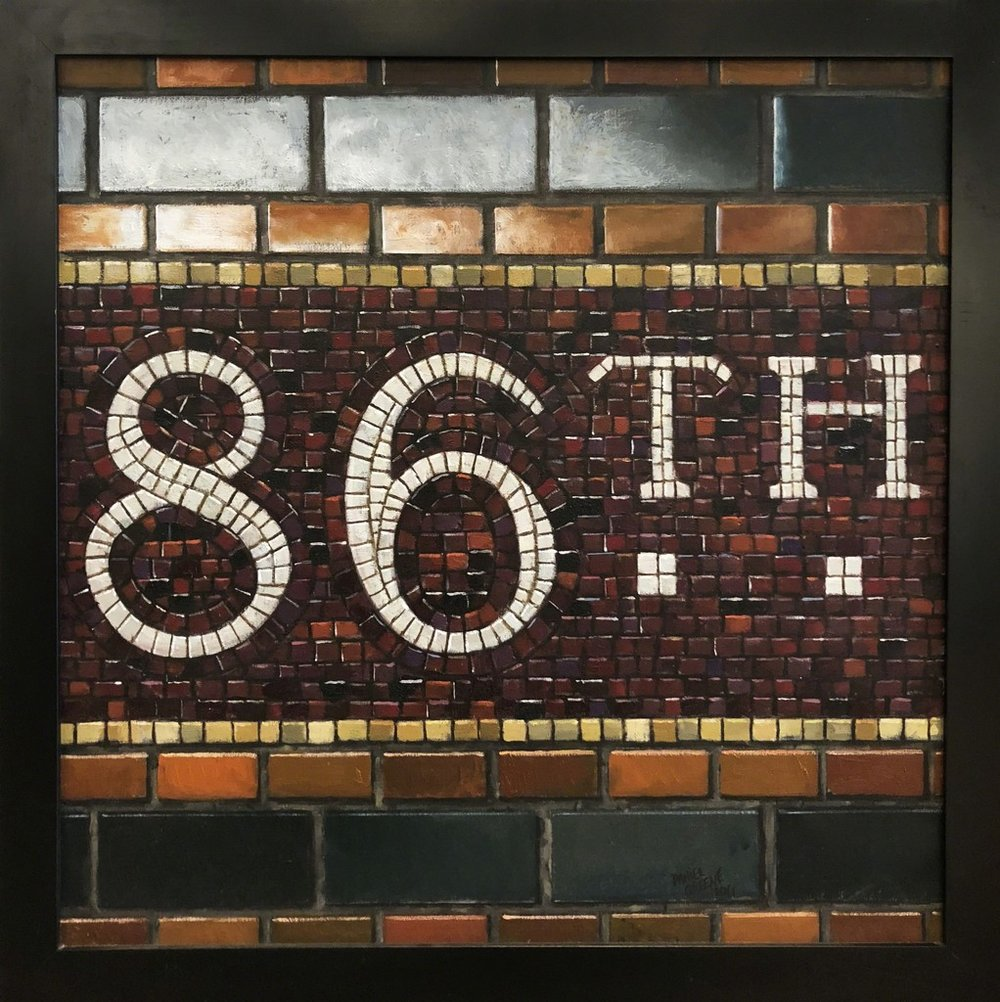 Daniel E. Greene, 86th St. - Mosaic Oil on Linen, 29x29 in.