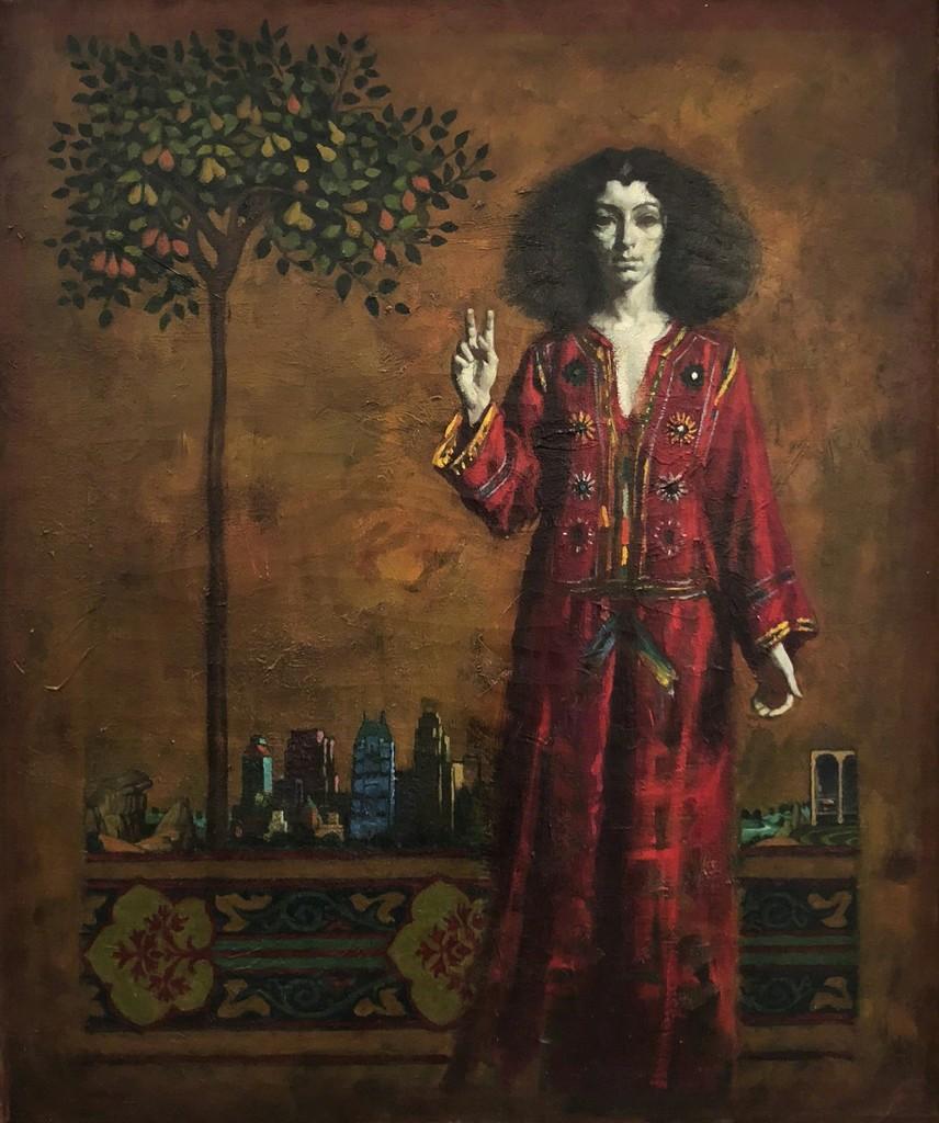 Daniel E. Greene, Carina in Central Park  Oil on Linen 30x25 in.