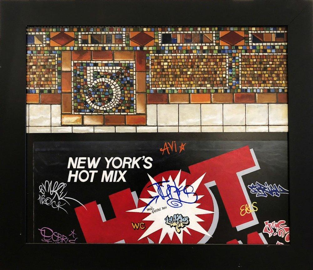 Daniel E. Greene, New York's Hot Mix 5th Ave.  Oil on Linen 30x36 in.
