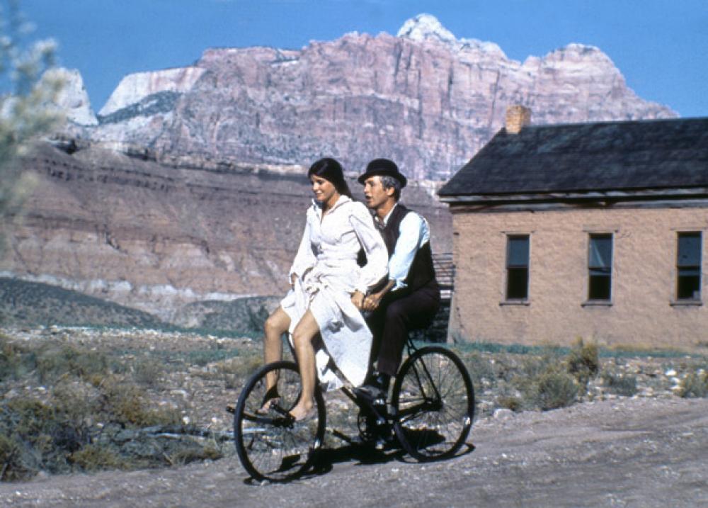 "Douglas Kirkland, Katherine Ross & Paul Newman ""Butch Cassidy"" 1968  Archival Pigment Print, 16x20 in"