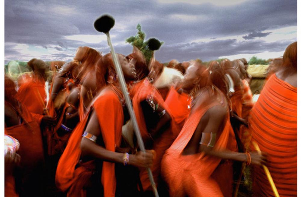 Douglas Kirkland, Masai Warriors, Kenya 1973  Archival Pigment Print, 40x60 in.