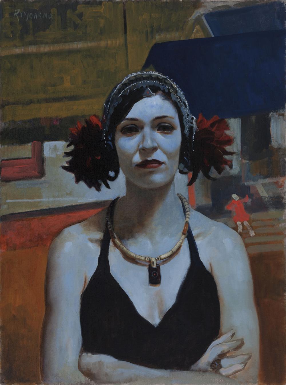 Ron Monsma, Blue Dancer  Oil on Canvas, 24x18 in.