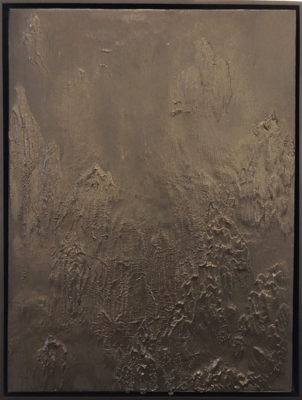 Matthew C. Metzger, American Darkness I  Oil, Iron & Bronze on Canvas, 25x19 in.