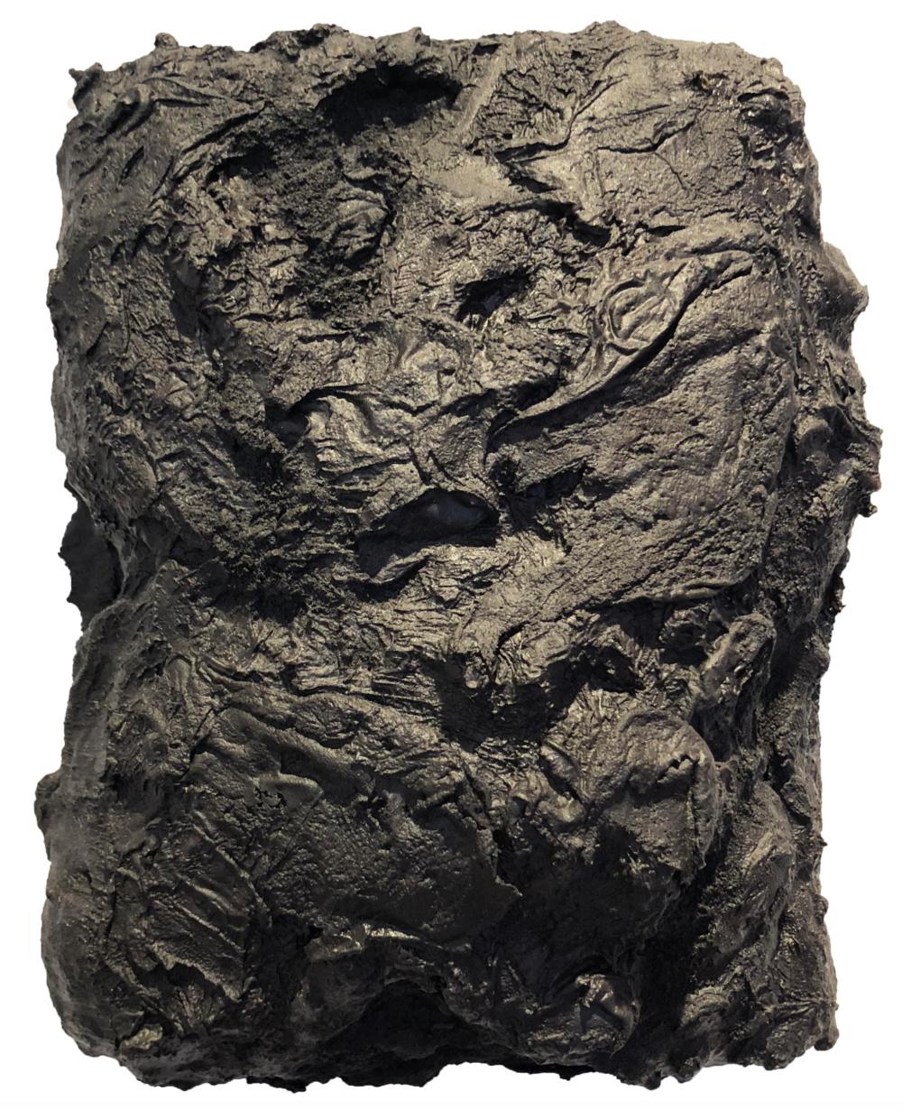 Matthew C. Metzger, Untitled  Iron, Oil, Isocyanate, Polyol Resin, 10x7 in.