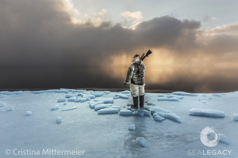 Cristina Mittermeier, Last Hunters of the North  Dye Sublimation Print on Metal, 40x60 in.