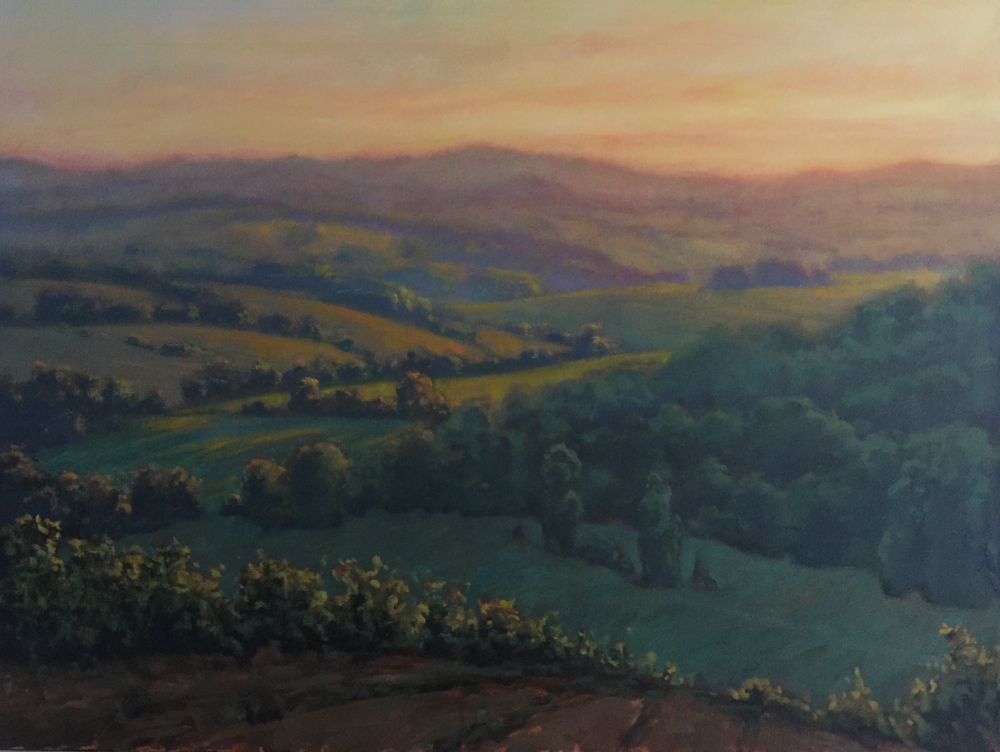 MICHAEL ORWICK, Tuscan Vista  Oil on Canvas, 30x40 in.