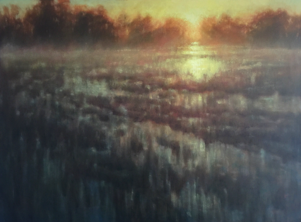 MICHAEL ORWICK, Flooded Fields  Oil on Canvas, 36x48 in.