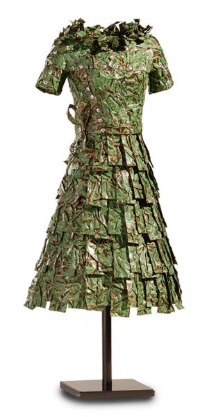 John Petrey, Leah  Copper Dress, Green Patina 19 x 8 x 8