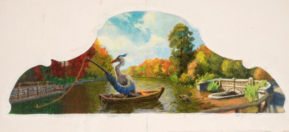 Jonathan Queen, Burnet Woods  Acrylic on Canvas, 19x13 in.