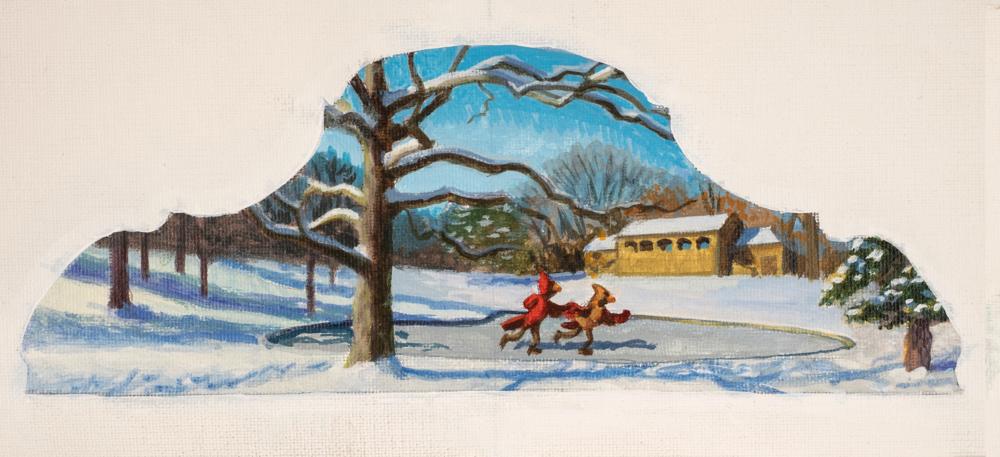 Jonathan Queen, Rapid Run  Acrylic on Canvas, 19x13 in.