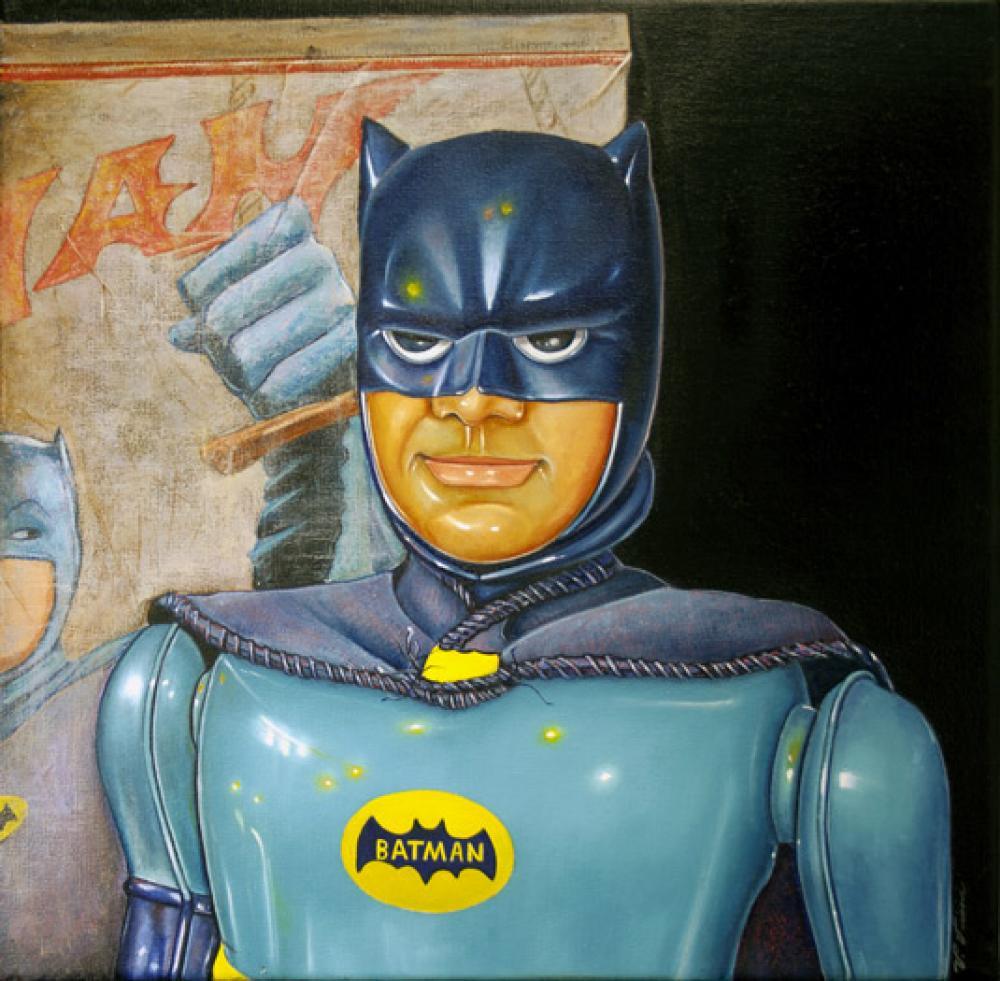 Vic Vicini, Batman 8  Oil on Linen, 20x20 in.