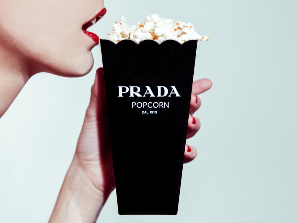 Tyler Shields, Prada Popcorn - AP  Digital Chromogenic Print, 30x22.5 in.