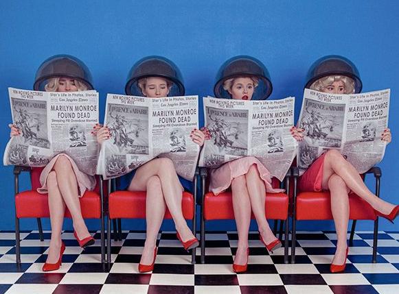 Tyler Shields, Marilyn Monroe  Digital Chromogenic Print, 45x60 in.