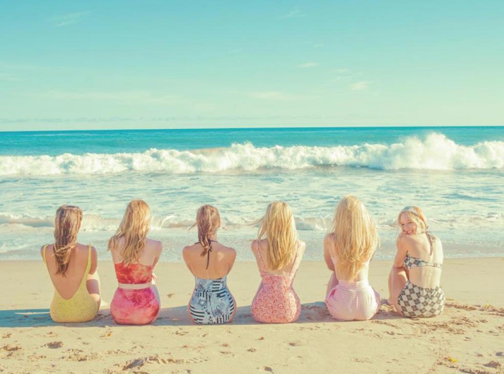 Tyler Shields, Girls at the Beach  Digital Chromogenic Print 22.5x30in.