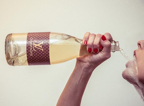 Tyler Shields, Louis Vuitton Champagne  Digital Chromogenic Print, 45x60 in.