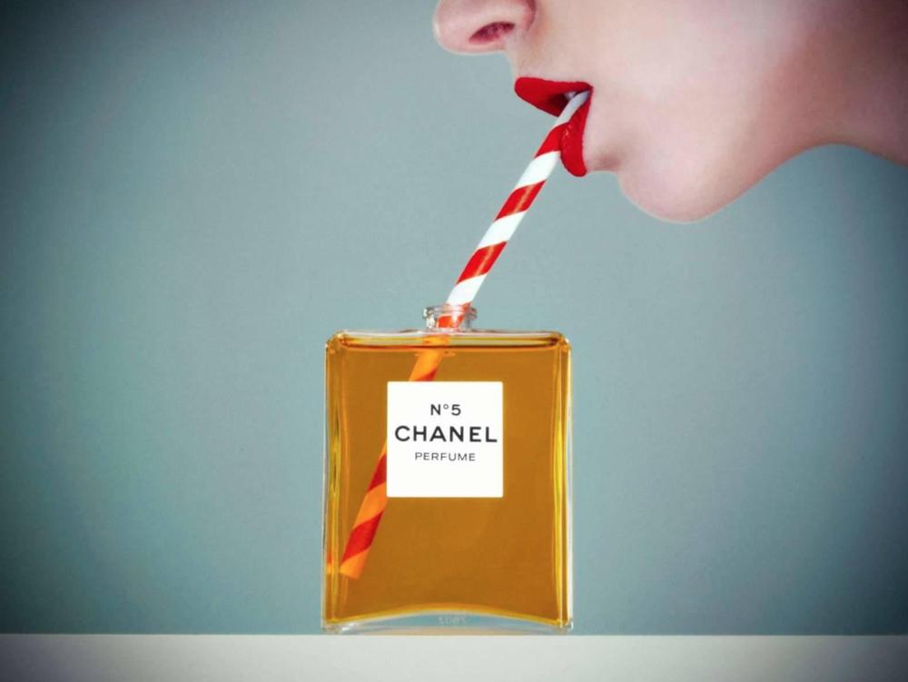 Tyler Shields, Chanel No. 5  Digital Chromogenic Print, 45x60 in.