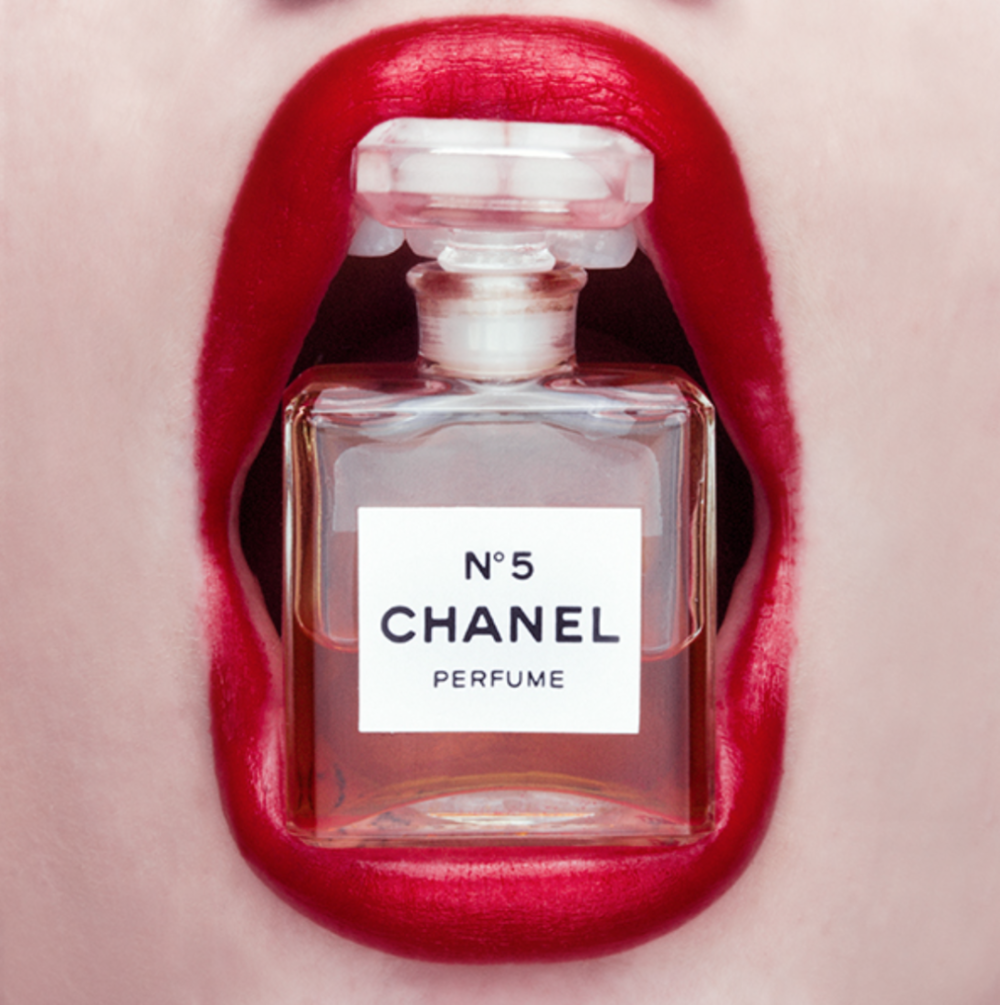 Tyler Shields, Chanel Mouth  Digital Chromogenic Print, 40x40 in.