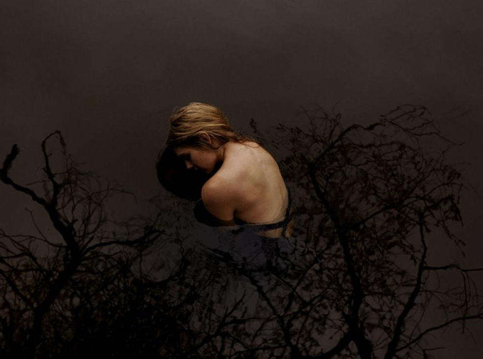 Tyler Shields, Girl in Pond  Digital Chromogenic Print, 40x60 in.