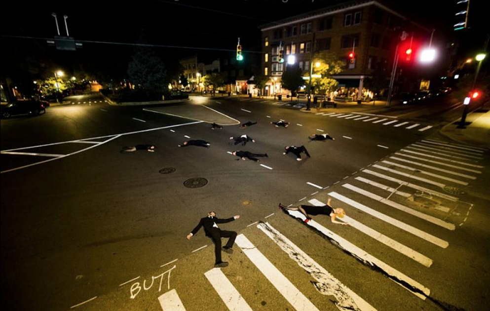 Tyler Shields, Murder on the Square  Digital Chromogenic Print