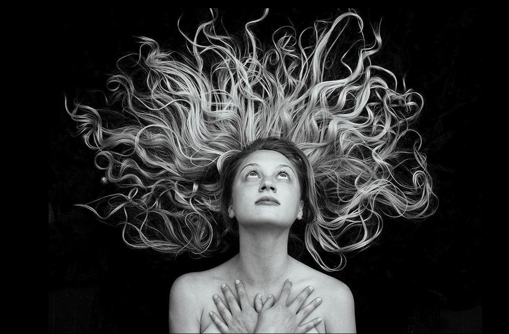 Tyler Shields, Hair  Digital Chromogenic Print, 22.5x30 in.