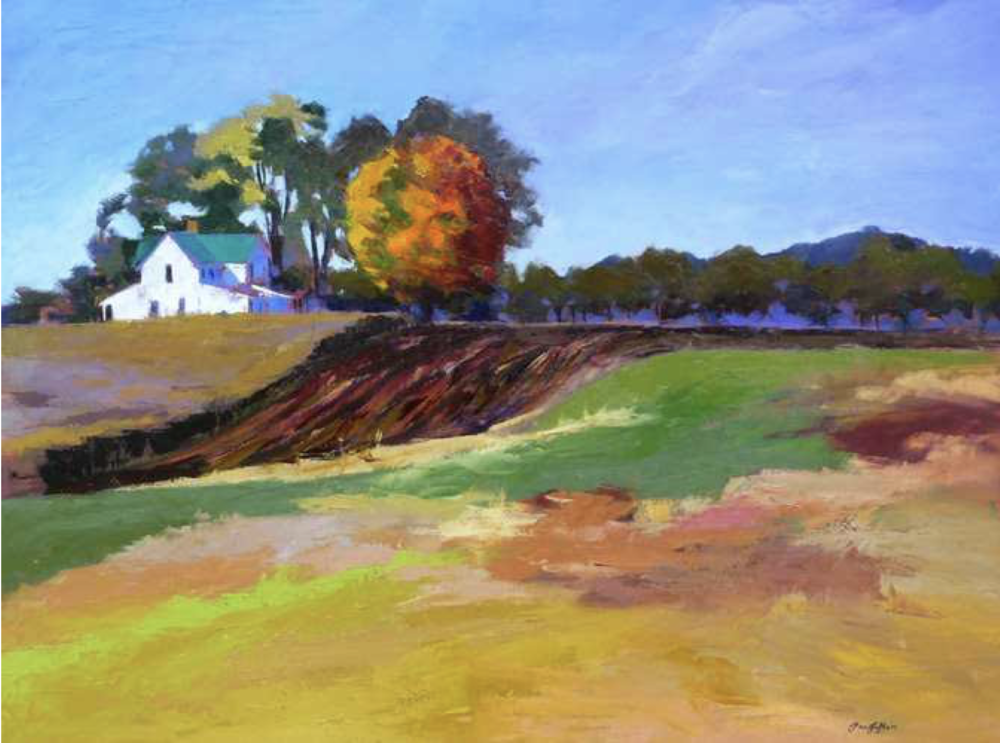 Pam Folsom, Harvest  Oil on Canvas, 36 in. x 38 in.
