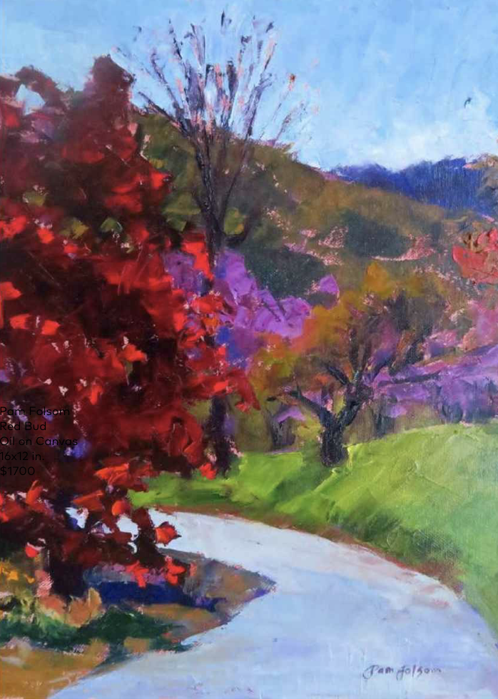 Pam Folsom, Red Bud  Oil on Canvas, 16 in. x 12 in.