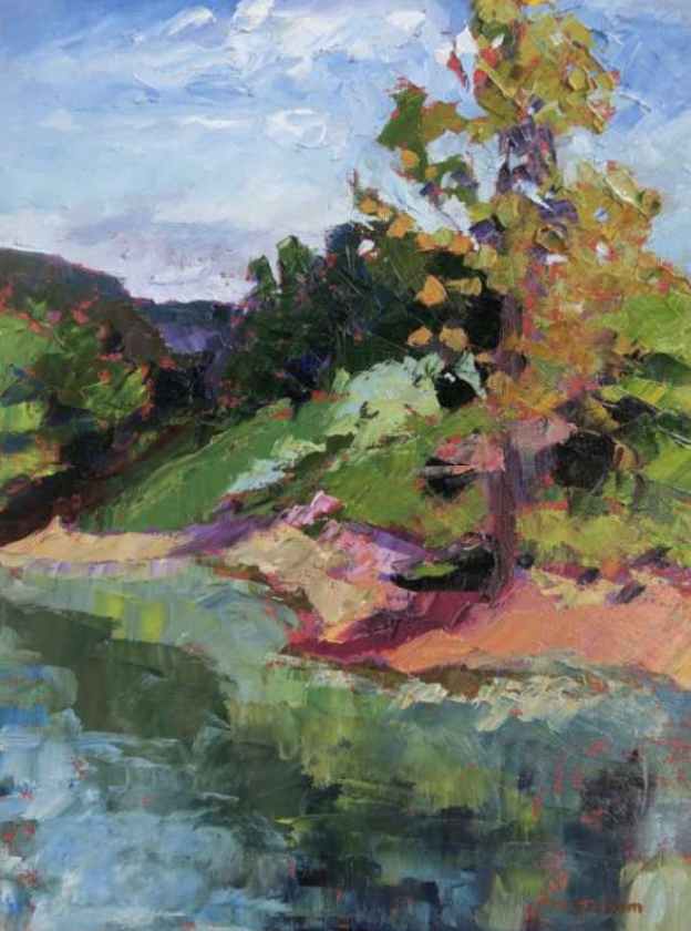 Pam Folsom, Gilly Pond  Oil on Canvas, 12 in. x 16 in.