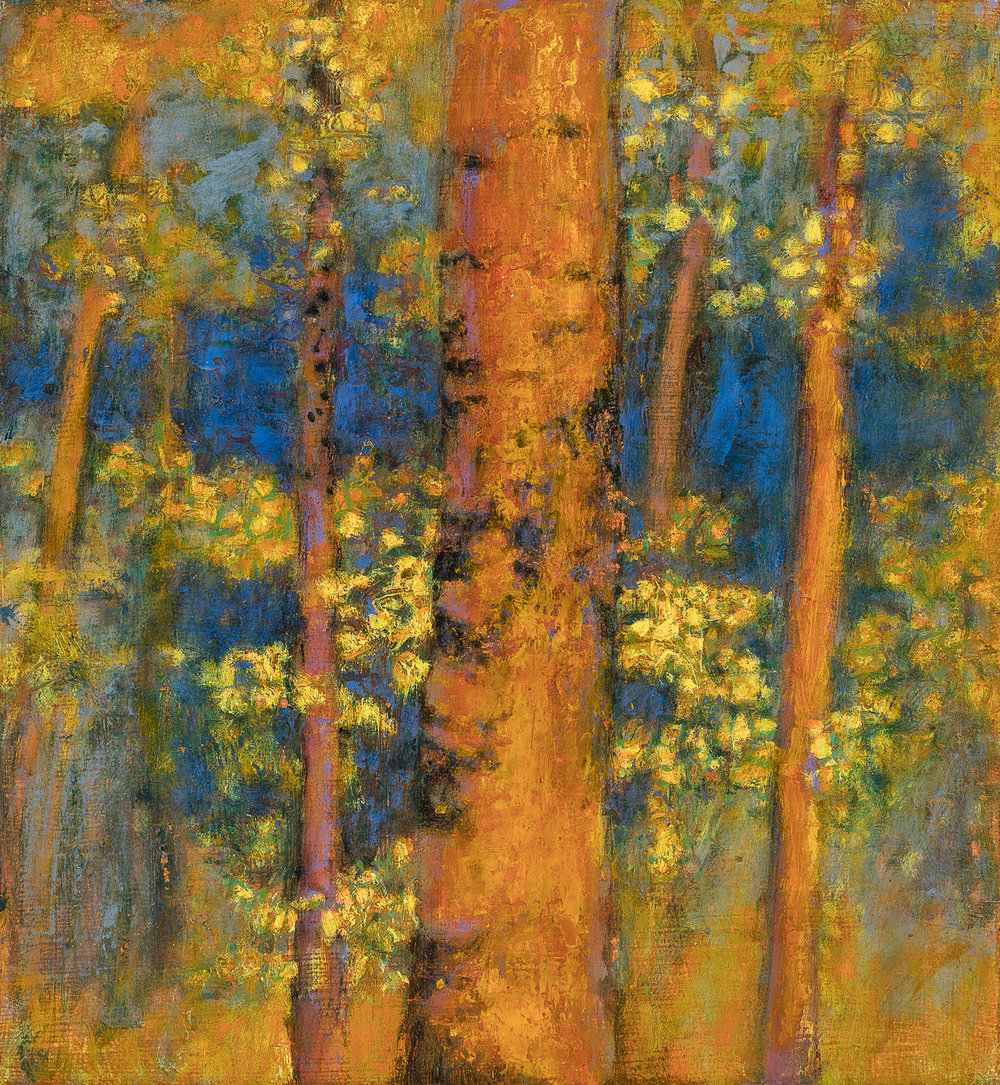 Rick Stevens, Aspen Portrait  Oil on Canvas, 12x11 in.