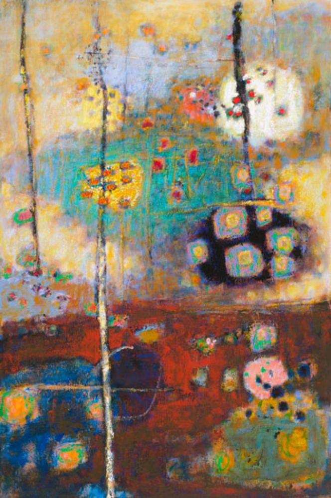 Rick Stevens, Rising from the Depths  Oil on Canvas, 48x32 in.