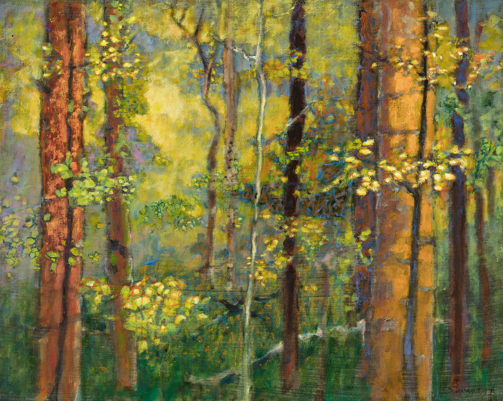 Rick Stevens, Forest Solitude  Oil on Canvas, 16x20 in.
