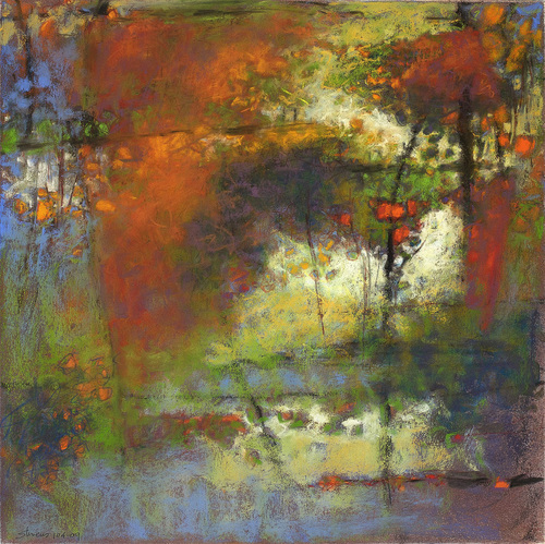 Rick Stevens, Resonating Earth  Pigment Print on Archival Fine Art Paper, 14x14 in.