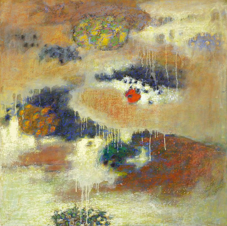 Rick Stevens, Sweet Earth Flying  Oil on Canvas, 32x32 in.