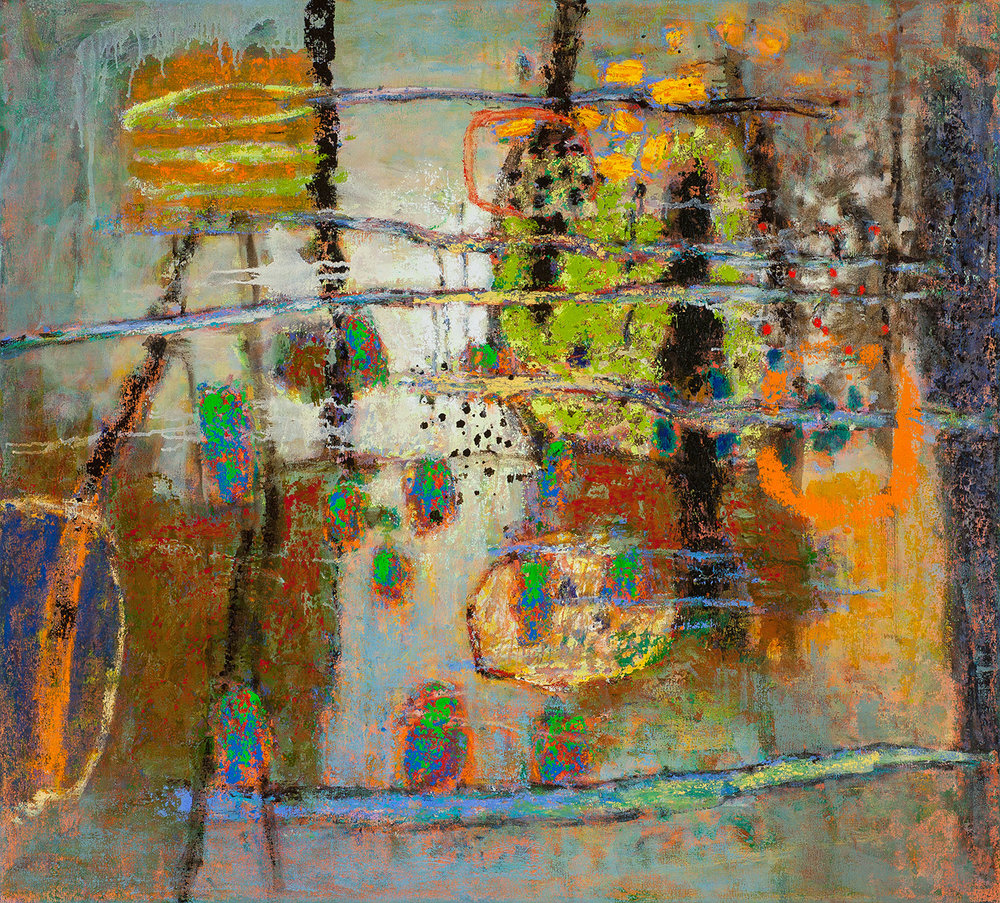 Rick Stevens, Involuntary Wonder  Oil on Canvas, 38x42 in.