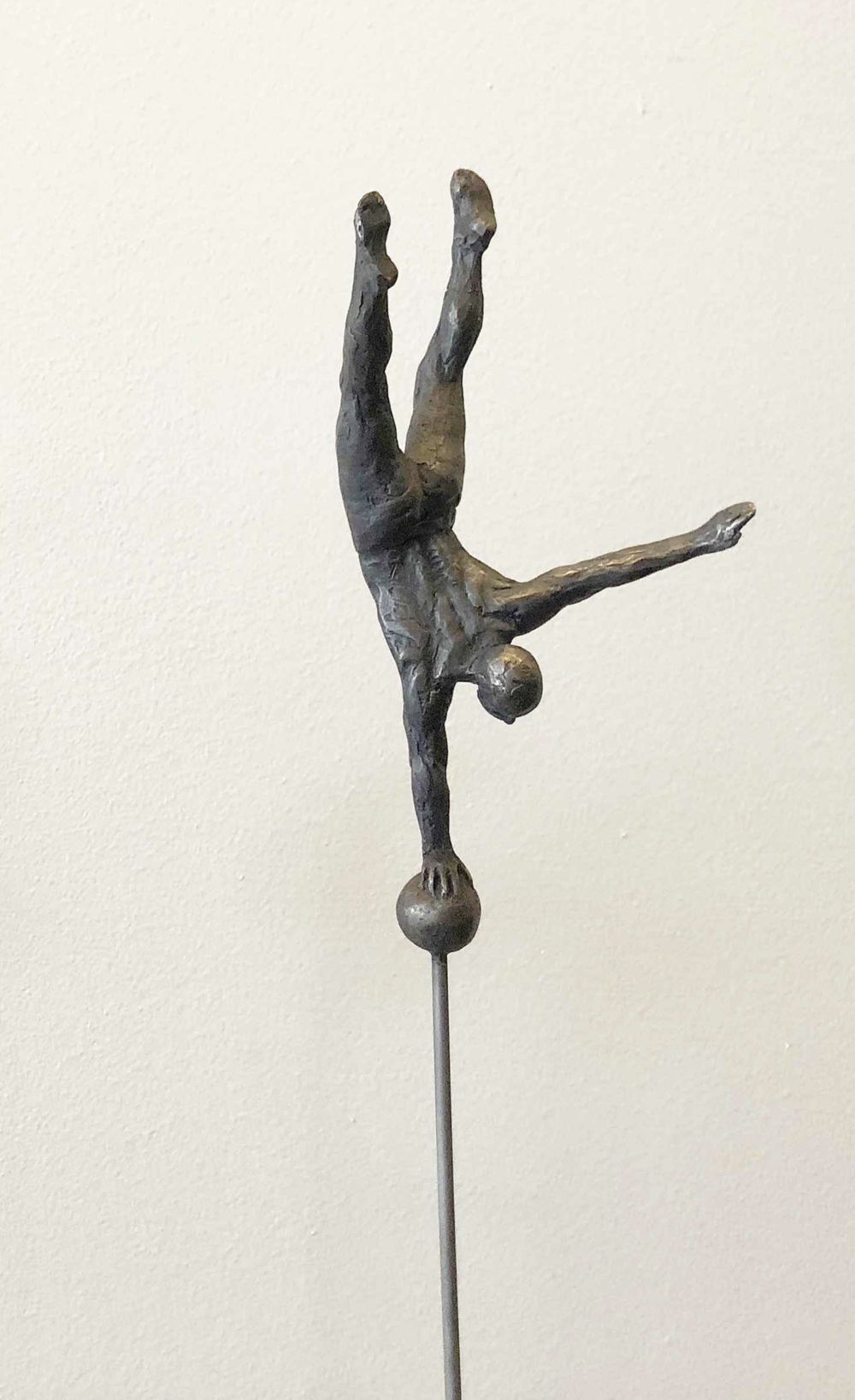 Bill Starke, Balance Series: Hand  Cast Bronze & Steel, 30x5.5 in.  SOLD